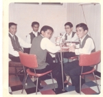 Ahhhhhhhh...great to snack, kick back & relax after performing at the Lahainaluna Welcome Dance (1964)