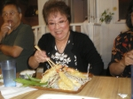 [Yaki Niku Restaurant, Wailuku, Submitted by BBenjamin]  Ann Kobayashi w/ Shrimp Tempura, Did she finish it?
